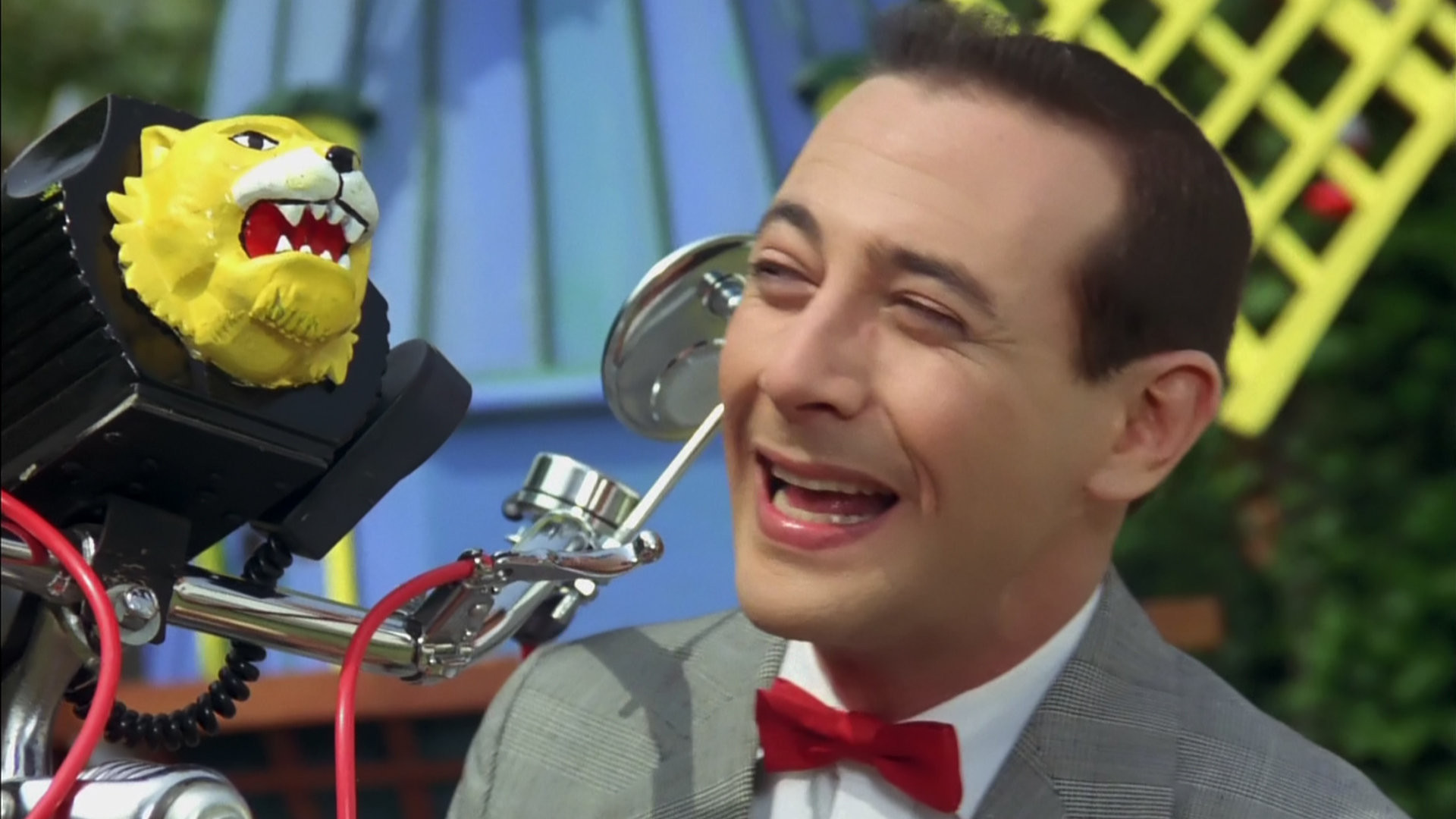 ll be honest, this little lion on the front of Pee-wee's bike ...