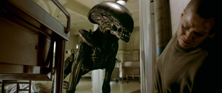 No longer solely confined to puppetry or a man in a suit, this time the Alien is occasionally created with early CGI. It looks ropey as fuck though, especially when you watch it on Blu-ray