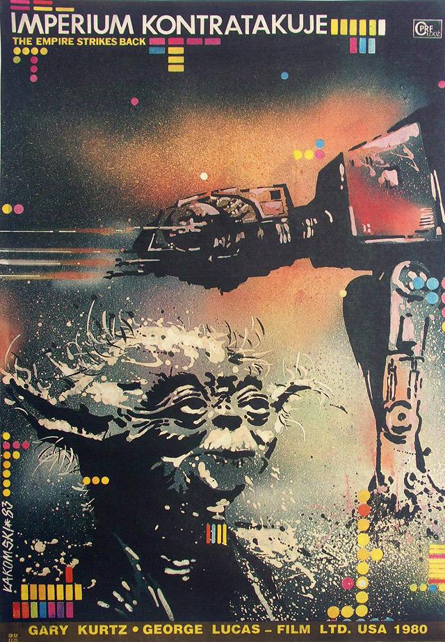 The Empire Strikes Back Polish poster