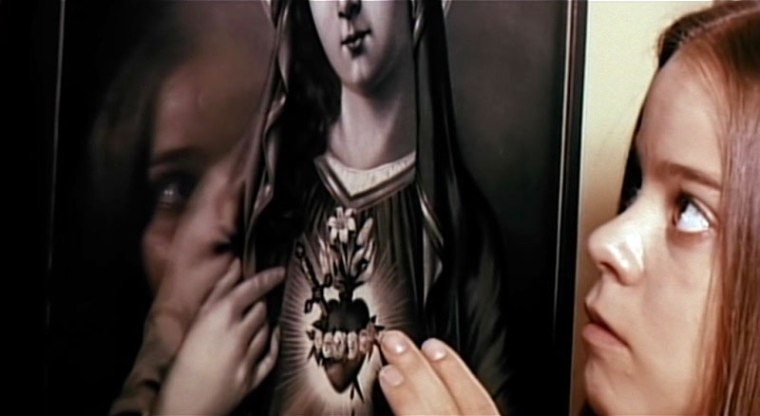 """""""I really wish mum hadn't traded our mirror in for this holy painting. I can barely do my hair now"""""""