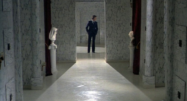 The mortuary set looks amazing, with marble-like walls. Top work