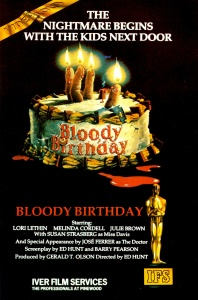 Bloody Birthday poster