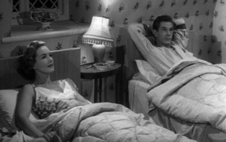 """You know, these 50s movies don't accurately depict the bedroom activity of married couples."" ""Shut up and keep your knickers on, love"""